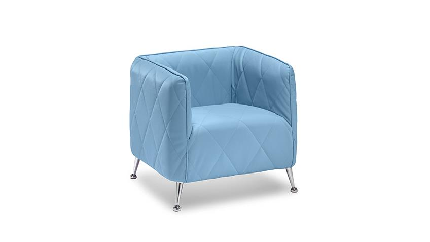 Sessel TABAC Cocktailsessel Loungesessel in sky blau