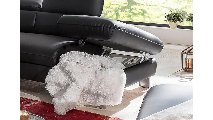 Ecksofa DRIVER Sofa Polsterecke schwarz mit Bettfunktion