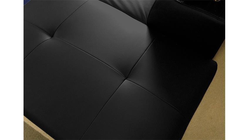 Wohnlandschaft CARRIER Sofa in schwarz mit Bettfunktion