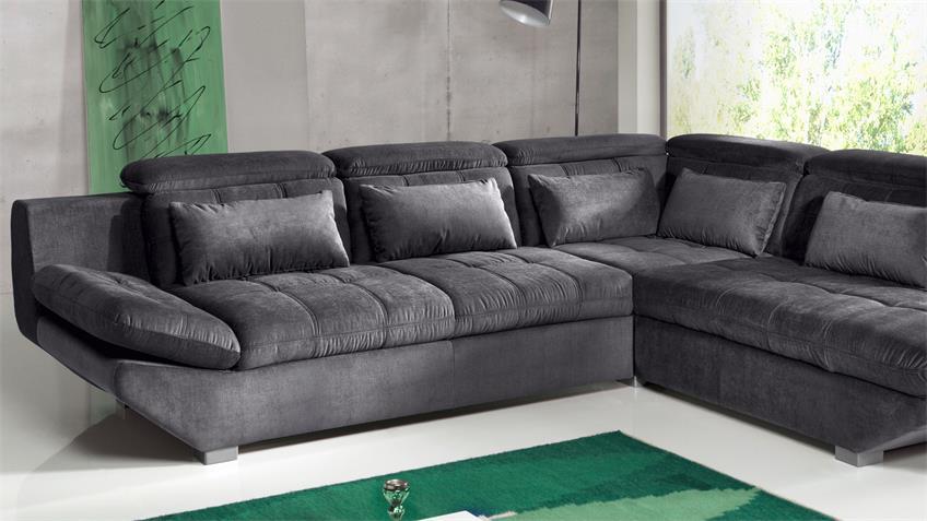 Wohnlandschaft ETERNITY Sofa in anthrazit mit Funktion