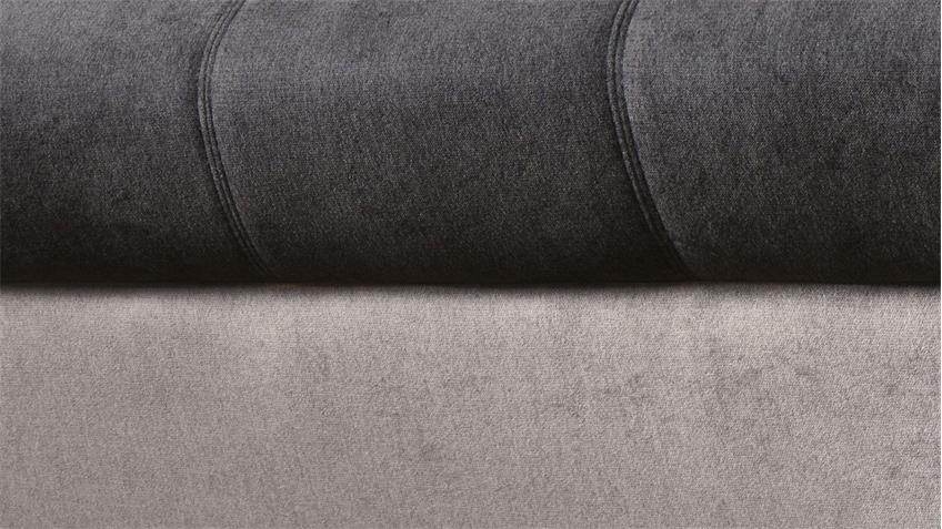Ecksofa SPEEDWAY Stoff grau braun inkl. Nosagfederung 262x224 cm