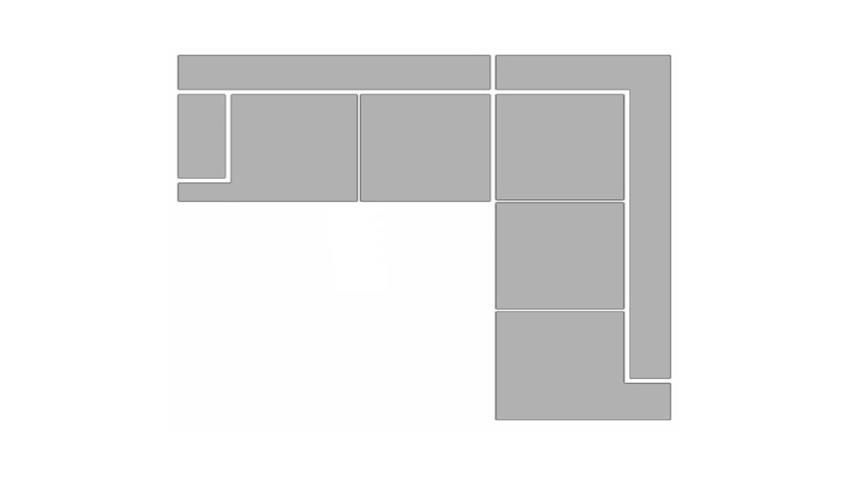 Ecksofa SPEEDWAY schwarz und beige inkl. Nosagfederung 262x224 cm