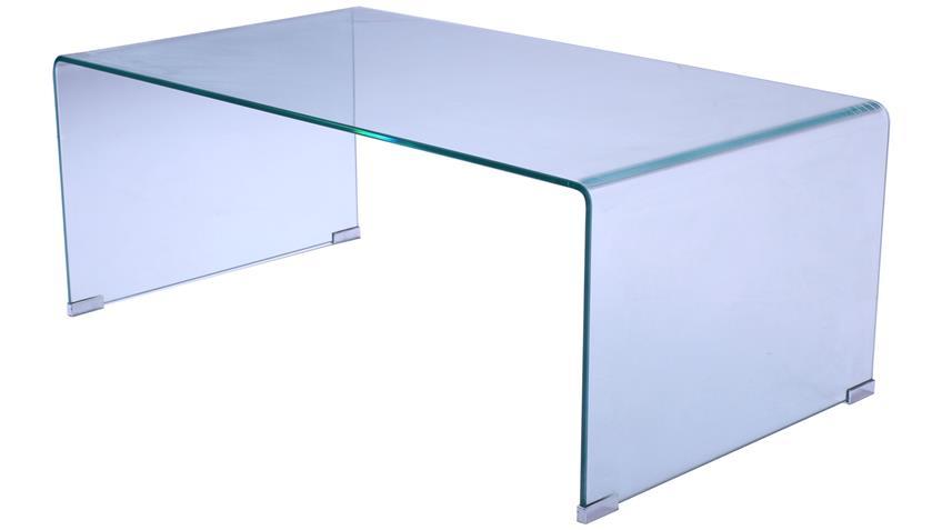 Couchtisch CECILE Glastisch Klarglas 10 mm