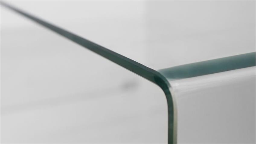 Beistelltisch 2er Set CECILE Glastisch Klarglas 8 mm
