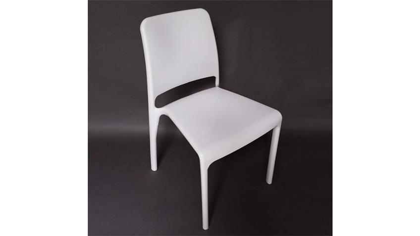 Stuhl JUDITH 4er-Set Esszimmerstuhl in weiß