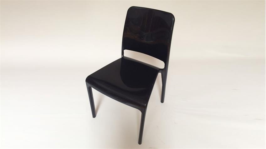 Stuhl JUDITH 4er-Set Esszimmerstuhl in schwarz