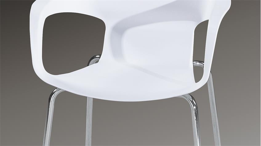 Stuhl ALFRED 4er-Set Esszimmerstuhl in weiß