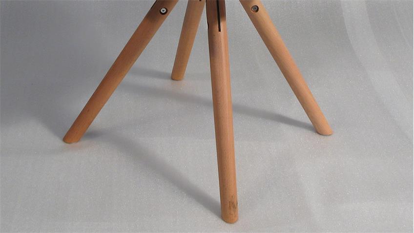 4er Set Stuhl ANTON in schwarz Buche Gestell