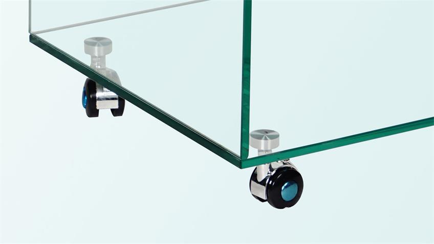 TV-Rollwagen ILKE Couchtisch ESG Glas Beistelltisch