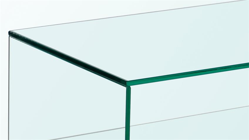 TV-Rack LINEA Lowboard ESG Glas TV-Board auf Rollen