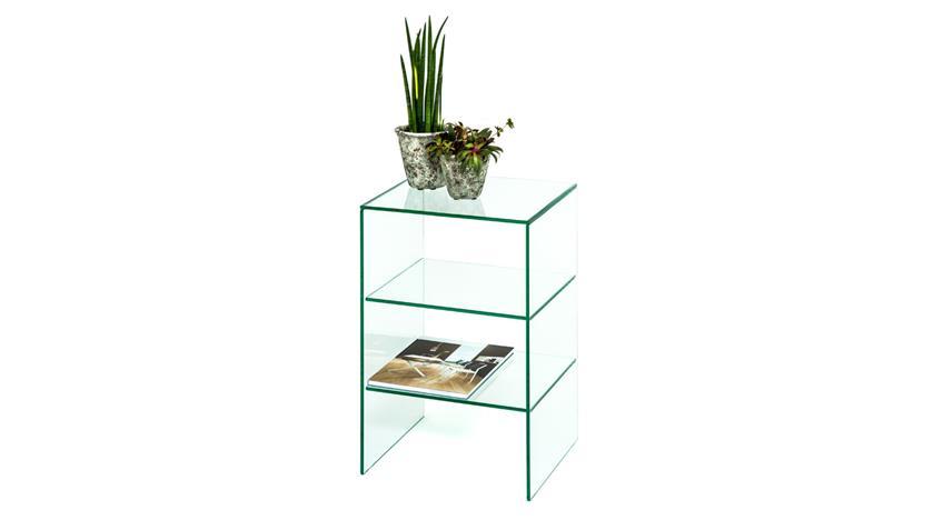 Regal LUZIE aus ESG Glas 10 mm mit 2 Fächer Wohnzimmer