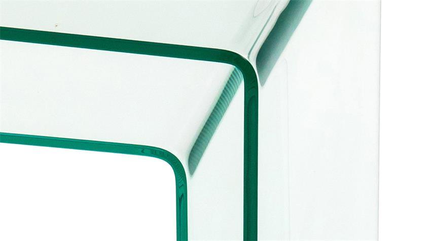 Couchtisch DIANA ESG Glas 10 mm mit 2 Beistelltischen