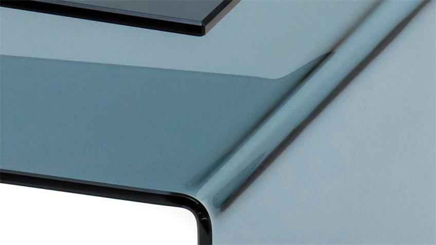 Beistelltisch SUSY ESG Glas schwarz 10 mm Zeitungsständer