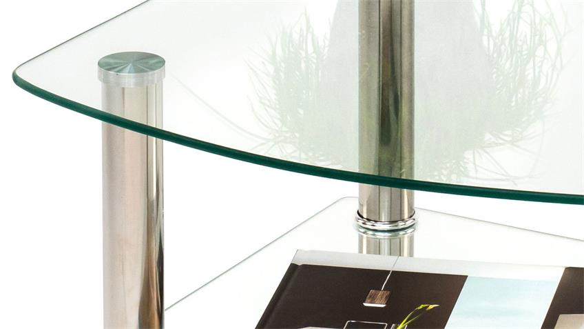 Beistelltisch SKY 3 ESG Klarglas 6 mm stark Couchtisch
