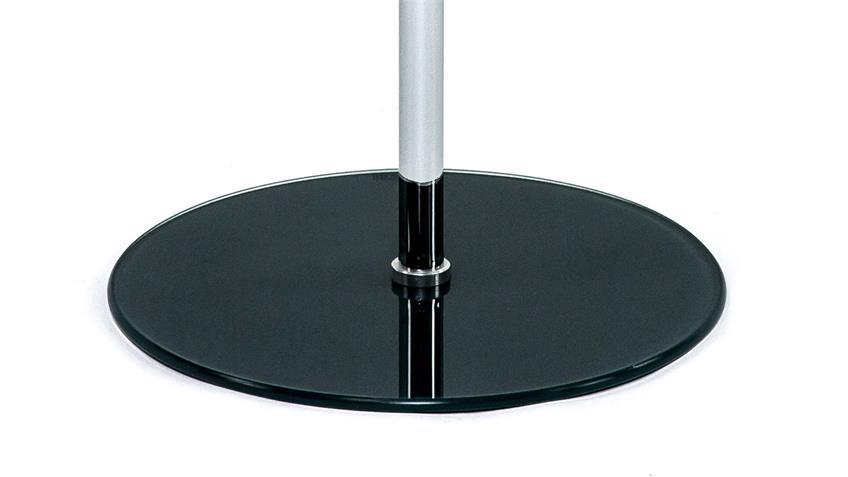 Beistelltisch FLYP ESG Glas schwarz höhenverstellbar Tisch