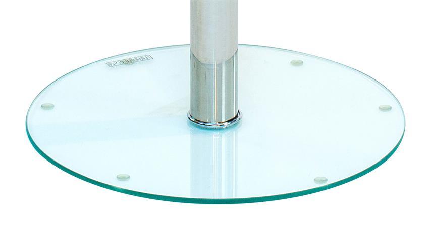Beistelltisch FLYP aus ESG Sicherheitsglas Klar Glastisch