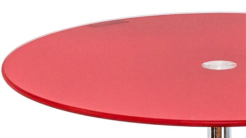 Beistelltisch FLYP aus ESG Sicherheitsglas rot Glastisch