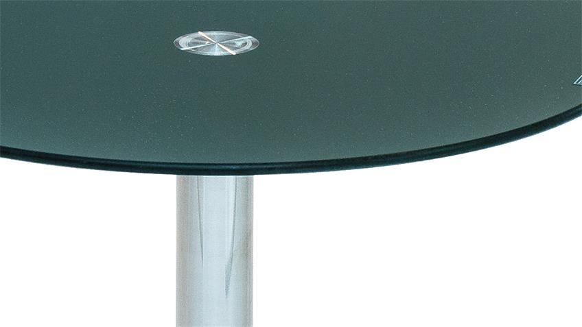 Beistelltisch FLYP aus ESG Sicherheitsglas petrol Glastisch