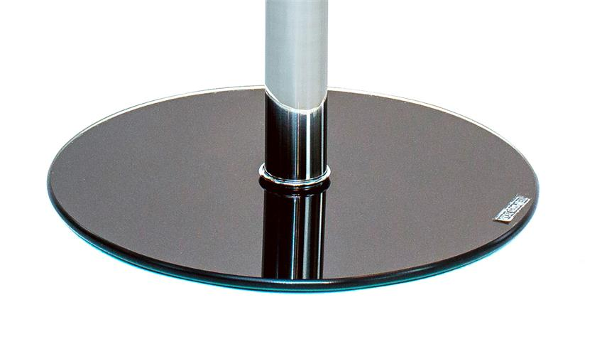 Beistelltisch FLYP aus ESG Sicherheitsglas grau Glastisch