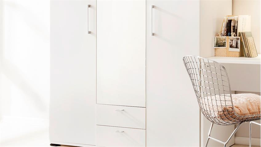 Kleiderschrank RIO Schrank in weiß Spiegel von CS Schmal