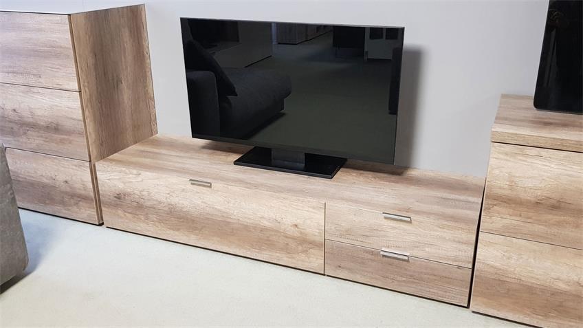 Lowboard CLEO 12 TV Schrank 163 cm Wildeiche CS Schmal