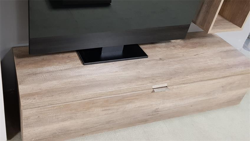 Lowboard TV Board Wildeiche1 Klappe CLEO 11 von CS Schmal 163 cm breit