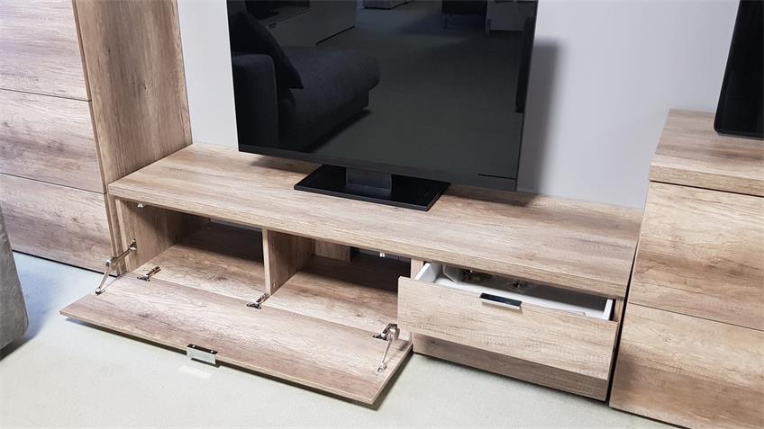 Lowboard TV Board CLEO 12 Wildeiche 1 Klappe 2 Schubkästen von CS Schmal