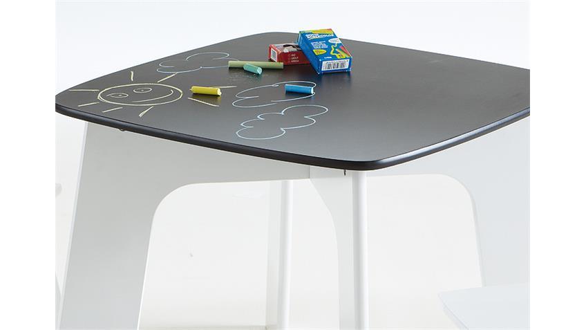 Kinderset Tischset KID Hocker in weiß und schwarz Dekor