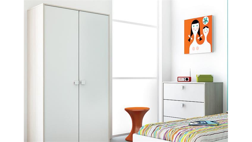 Jugendzimmer-Set GAME 5-teilig Weiß und Akazie
