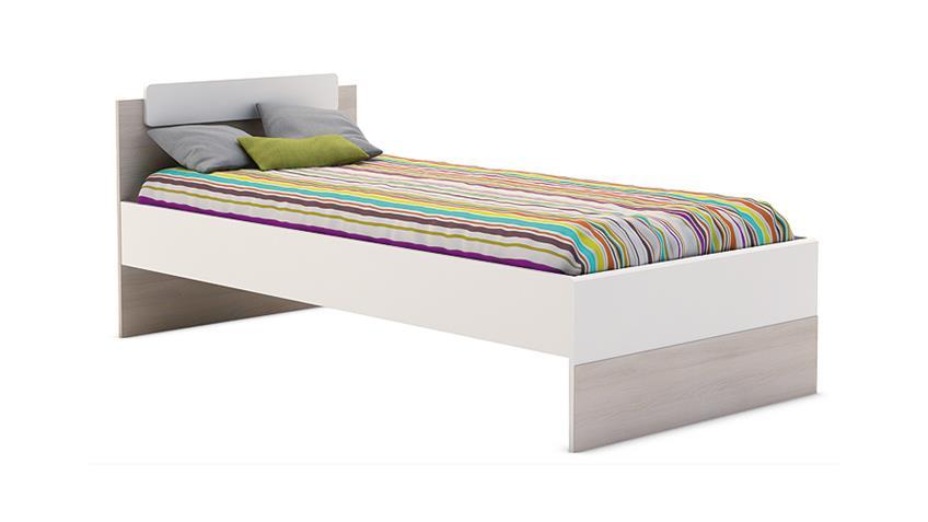 Bett GAME Kinder und Jugendzimmerbett weiß Akazie 90x190 cm
