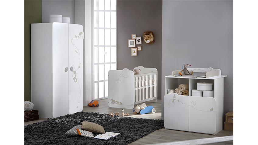 Babyzimmerset JUNGLE Kinderzimmer weiß mit Dschungelmotiv