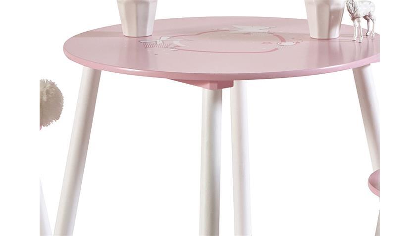 Tischset BUTTERFLY Kindertischset Tisch Stuhl rosa und weiß