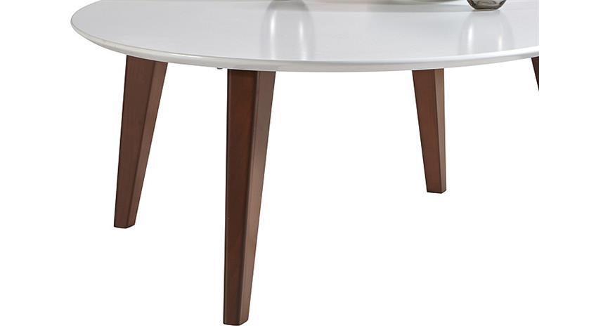Couchtisch ROUND Wohnzimmertisch Tisch weiß und braun 78 cm