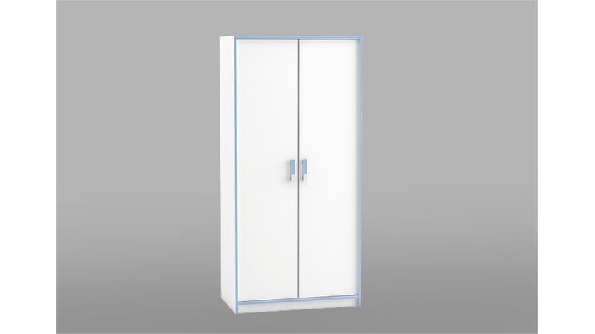 Kleiderschrank SWITCH Schrank in weiß rosa oder blau 88 cm