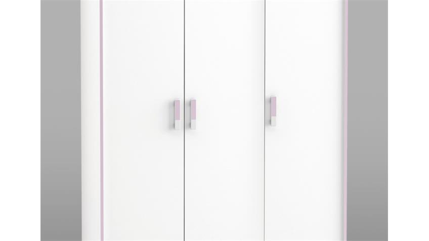 Kleiderschrank SWITCH Schrank in weiß rosa oder blau 130 cm