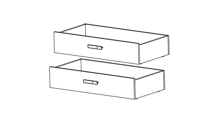 Bettschubkasten 2er Set SWITCH in weiß rosa oder blau