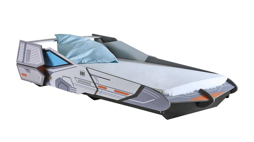 Kinderbett STARSHIP Bett Raumschiff Star Wars  LED Rollrost