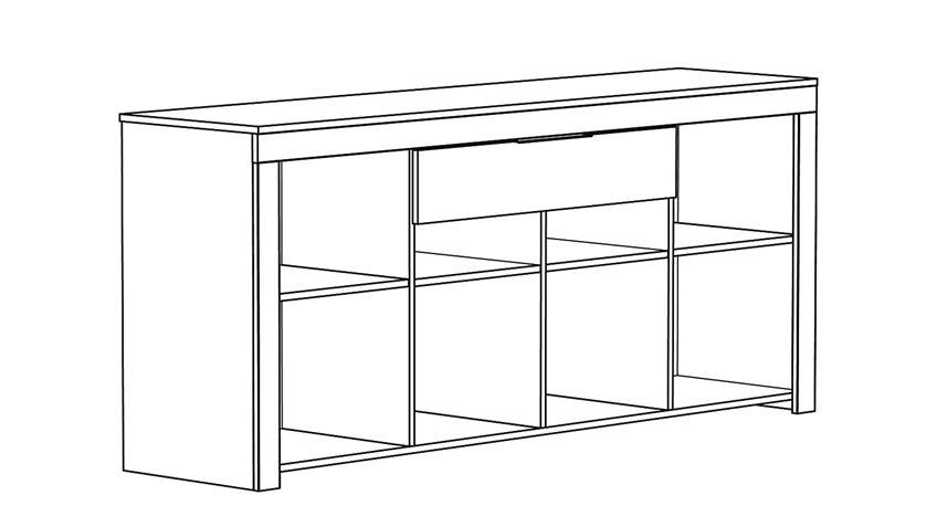 Anrichte RUBIS Sideboard Kommode in Ebenholz braun
