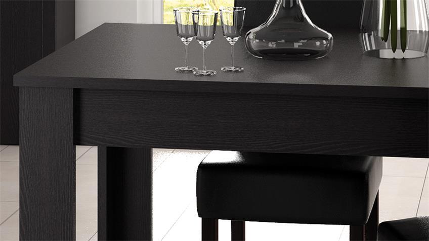 Esstisch RUBIS Tisch Esszimmertisch Ebenholz braun 90x170