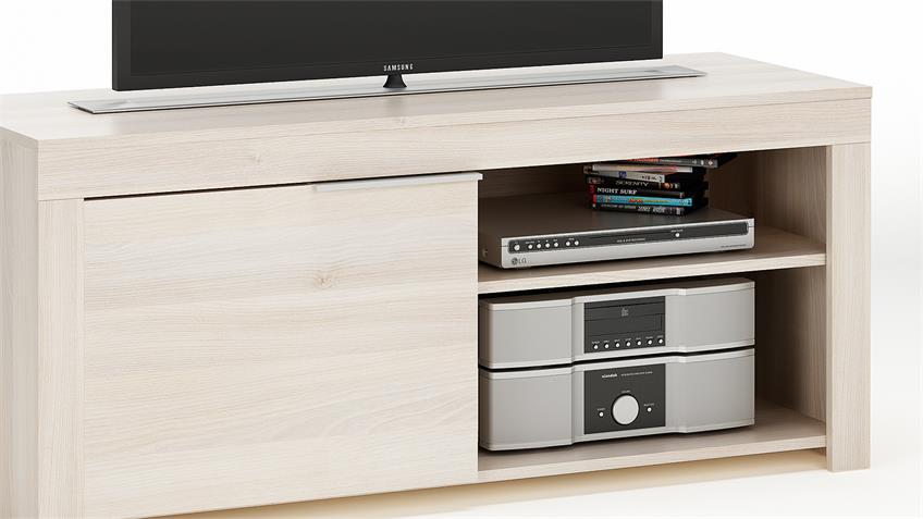 TV-Board RUBIS TV-Bank Lowboard Unterschrank in Akazie