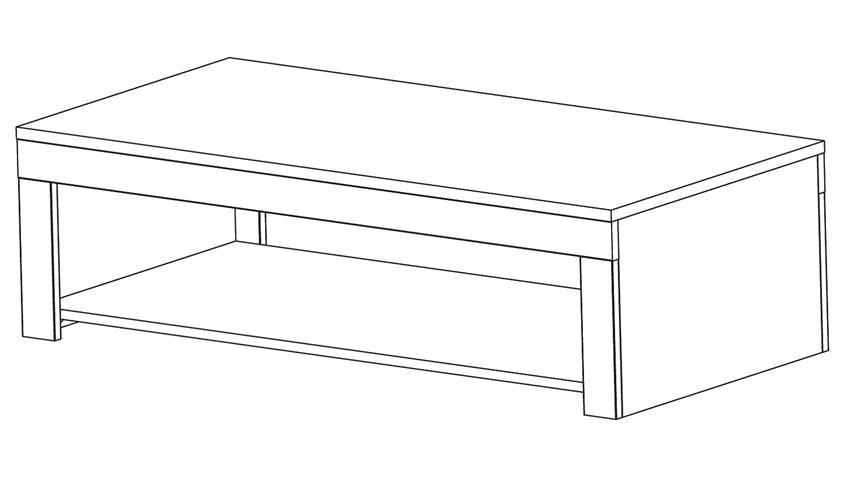 Couchtisch RUBIS Beistelltisch Tisch Akazie 110 cm