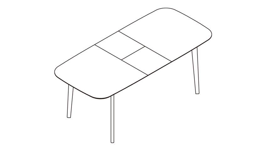 Esstisch BLOCK Tisch Eiche Aragon weiß ausziehbar 160-200