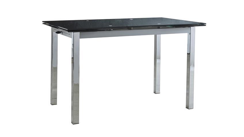 Esstisch KIARA Tisch Esszimmertisch schwarz Glas ausziehbar