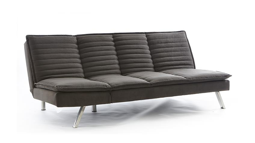 Schlafsofa AMARETTO Sofa Couch Polstersofa in grau
