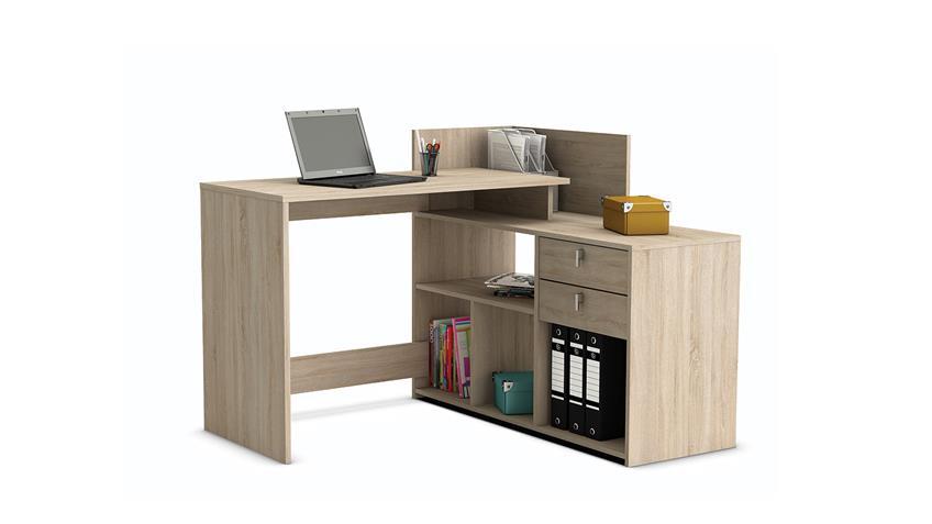 Eckschreibtisch VISTA Schreibtisch Sonoma Eiche Struktur