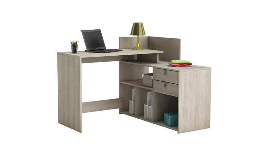 Eckschreibtisch VISTA Schreibtisch PC-Tisch Shannon Eiche