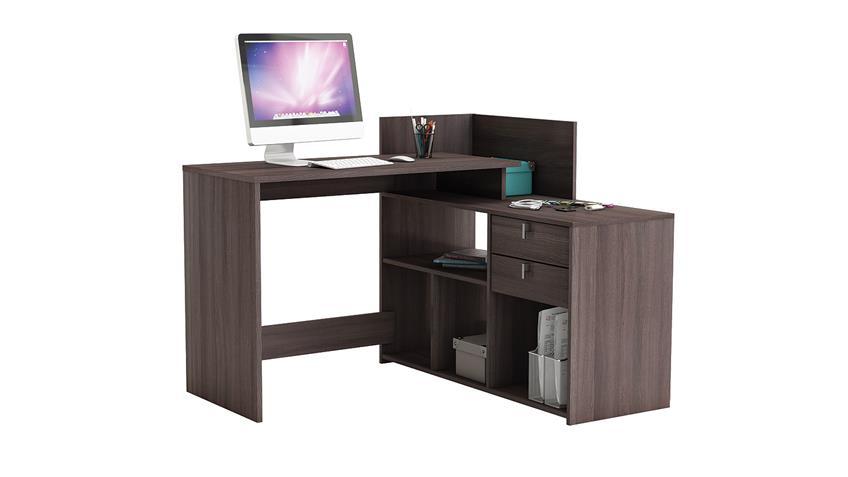 Eckschreibtisch VISTA Schreibtisch PC-Tisch Vulcano Eiche