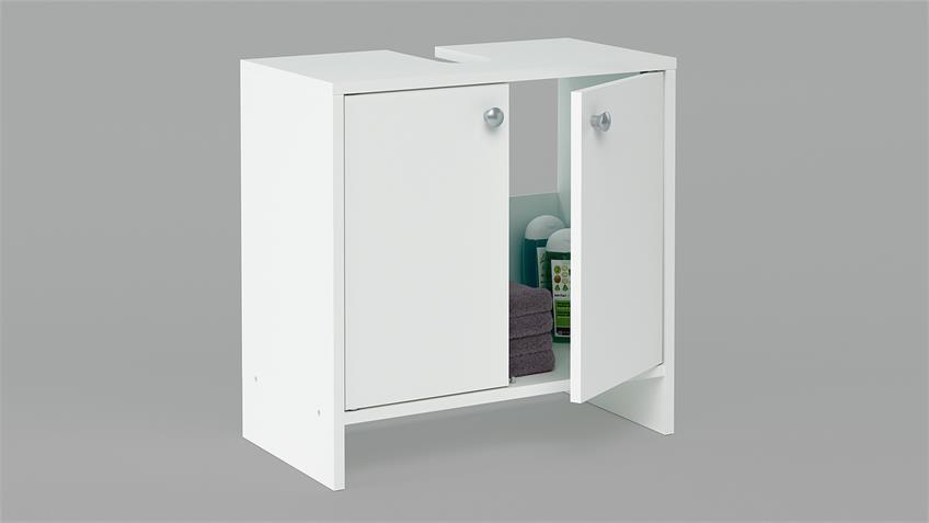 Waschbeckenunterschrank MALAGA Unterschrank in weiß