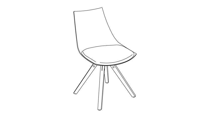 Stuhl 2er Set MILANO Polsterstuhl Stuhlset Massivholz weiß