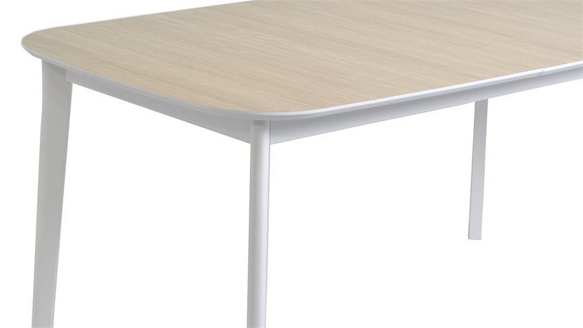 Tischgruppe BLOCK MILANO Stuhl Tisch weiß Eiche Aragon